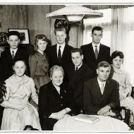 Photo of Leonhard and Marta Lehmann with their seven children