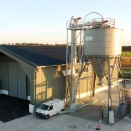 Complete facility in Fahrbinde (DE), comprising a storage depot, a timber silo and a brine facility