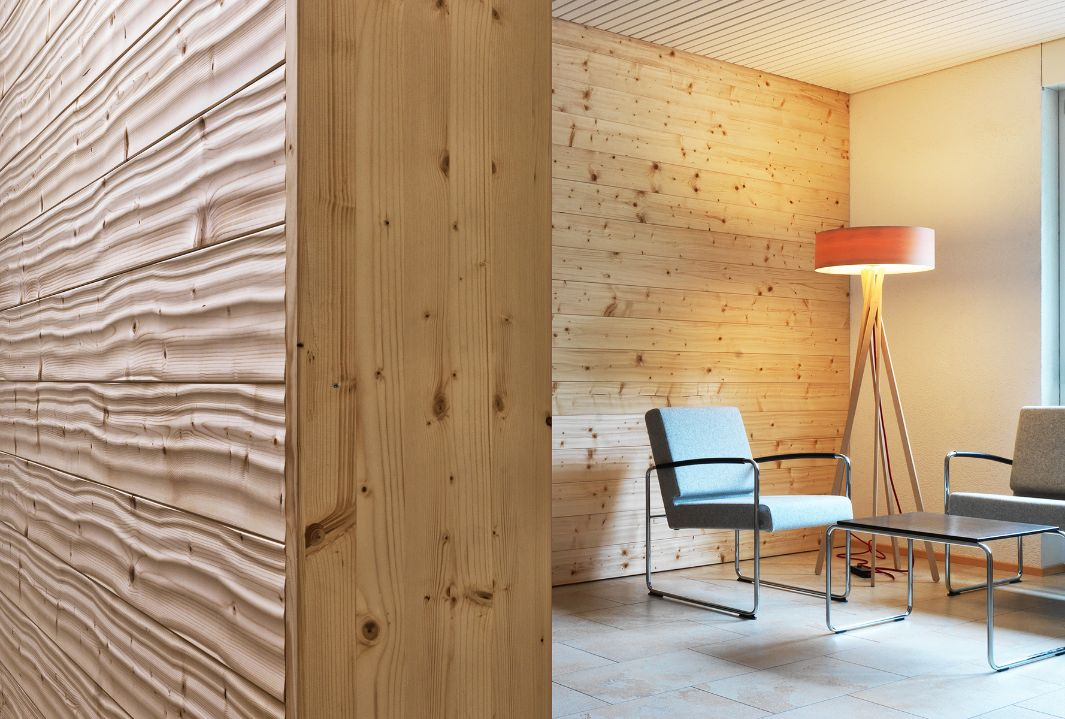 Use of Structured Wood in the Lehmann Group reception area