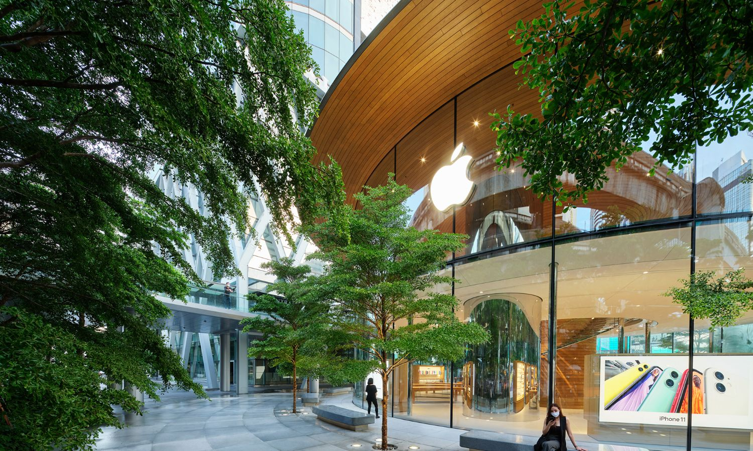 Exterior view Apple Store Bangkok