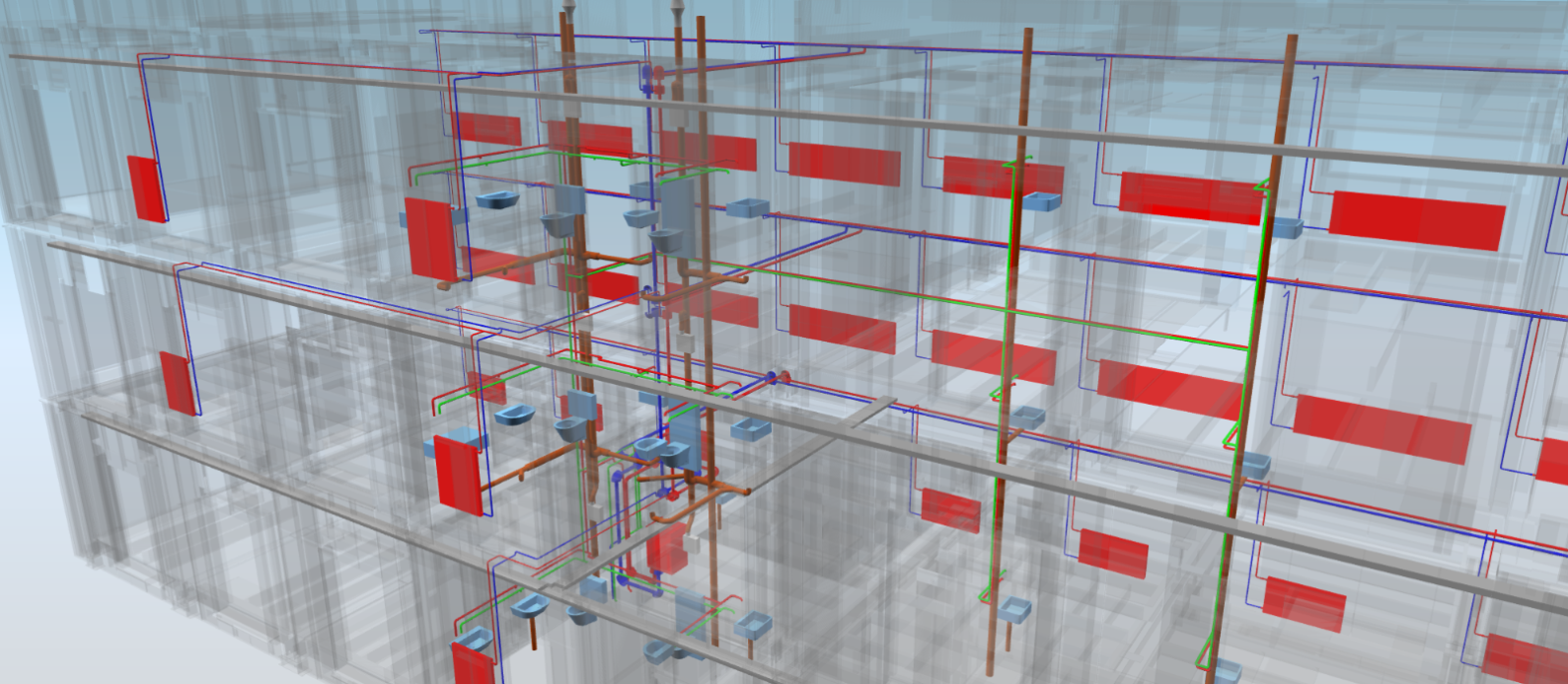 3D BIM planning model of the Lattich modular construction