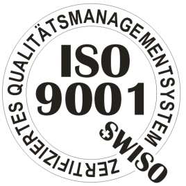 Illustration of the label of our ISO 9001 certification